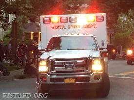 Vista Ambulance 84B1 in the 2018 Katonah Fire Department Parade