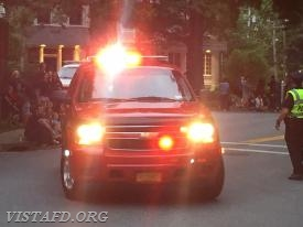 The Vista Chief's Car in the 2018 Katonah Fire Department Parade