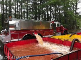 Vista Tanker 4 dumping water during the Stamford Tanker Shuttle