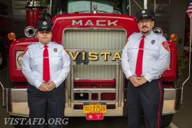Probationary EMT Candidate Andreya Pastrana and EMT Greg Pastrana