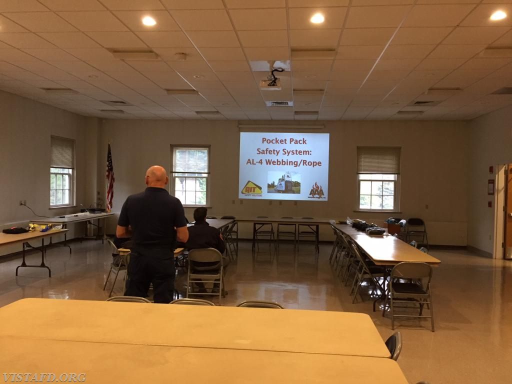 Instructors from AAA Emergency Supply Co. going over the Bailout System PowerPoint Presentation