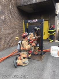 Vista Firefighters practicing Forcible Entry operations