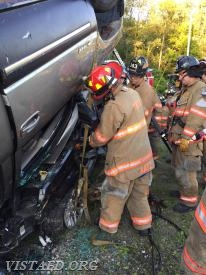 Lt. Phil Katz performing extrication operations