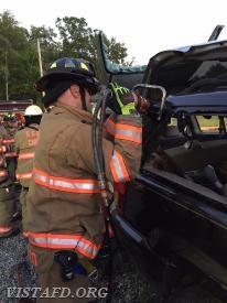 Lead Foreman Marc Baiocco performing extrication operations