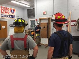Asst. Chief Mike Peck going over Forcible Entry