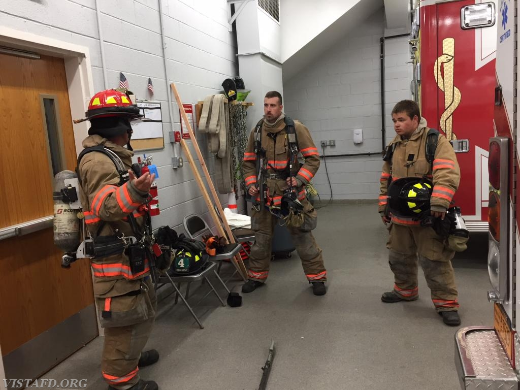 """Lt. Phil Katz going over the """"search & rescue"""" evolution during """"Advanced Firefighter Skills Class"""""""