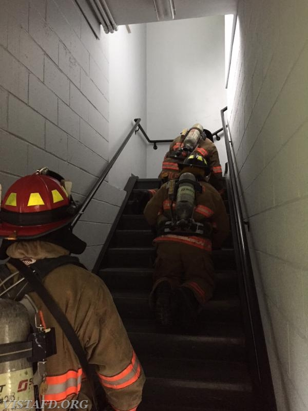 """Vista Firefighters conducting a search & rescue during """"Advanced Firefighter Skills Class"""""""