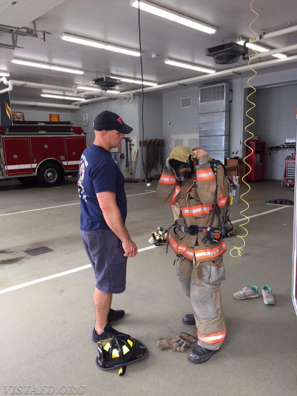 """Lead Foreman Marc Baiocco going over a """"2-minute drill"""" during """"Firefighter Fundamentals Class"""""""