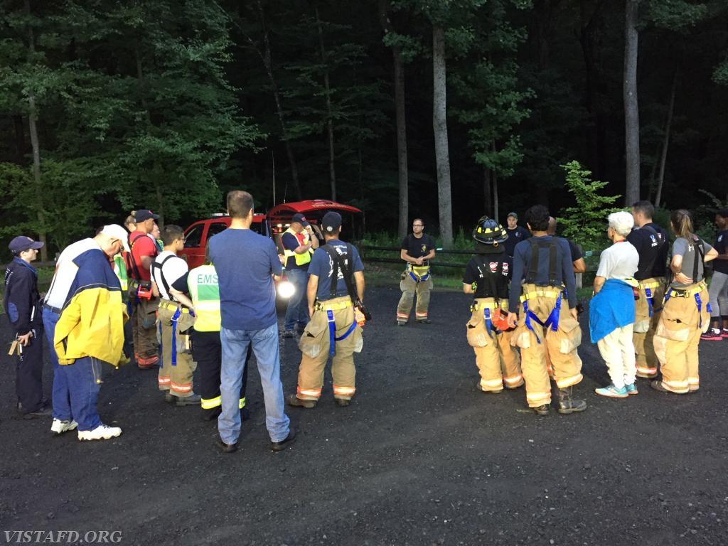 """Vista Fire Department crews prepare for the """"Lost Person Search"""" drill"""