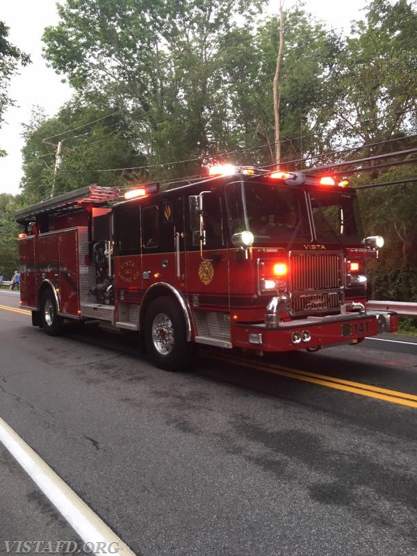 Engine 141 in the 2018 South Salem Fire Department Parade