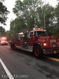 Tanker 4 in the 2018 South Salem Fire Department Parade
