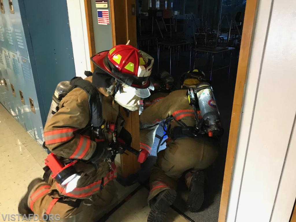 Vista Firefighters performing search & rescue operations