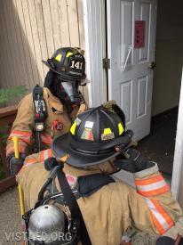 Vista Firefighters preparing for the search & rescue scenario