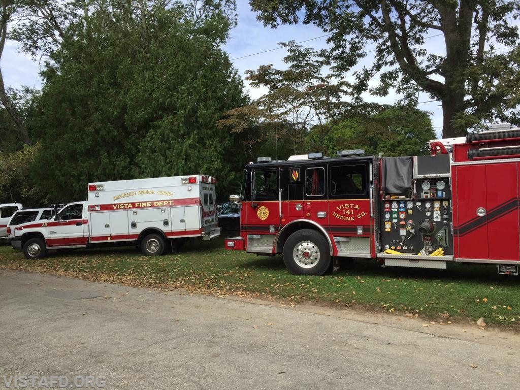 Ambulance 84B2 and Engine 141 at the 2018 South Salem Library Fair