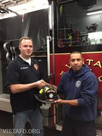 Firefighter Dan Gjodesen and his mentor, Lt. Wilmer Cervantes