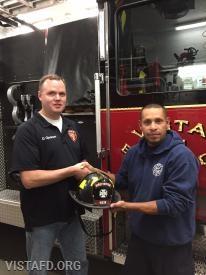 Firefighter Dan Gjodesen and his mentor, Lt. Wilmer Cervantes