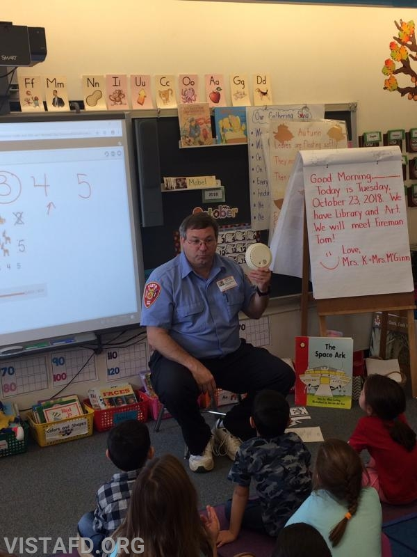 Fireman Tom Ritchey visited MPES this past week to teach students proper Fire Safety tips