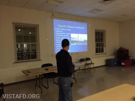 Lt. Phil Katz going over the different types of Building Construction
