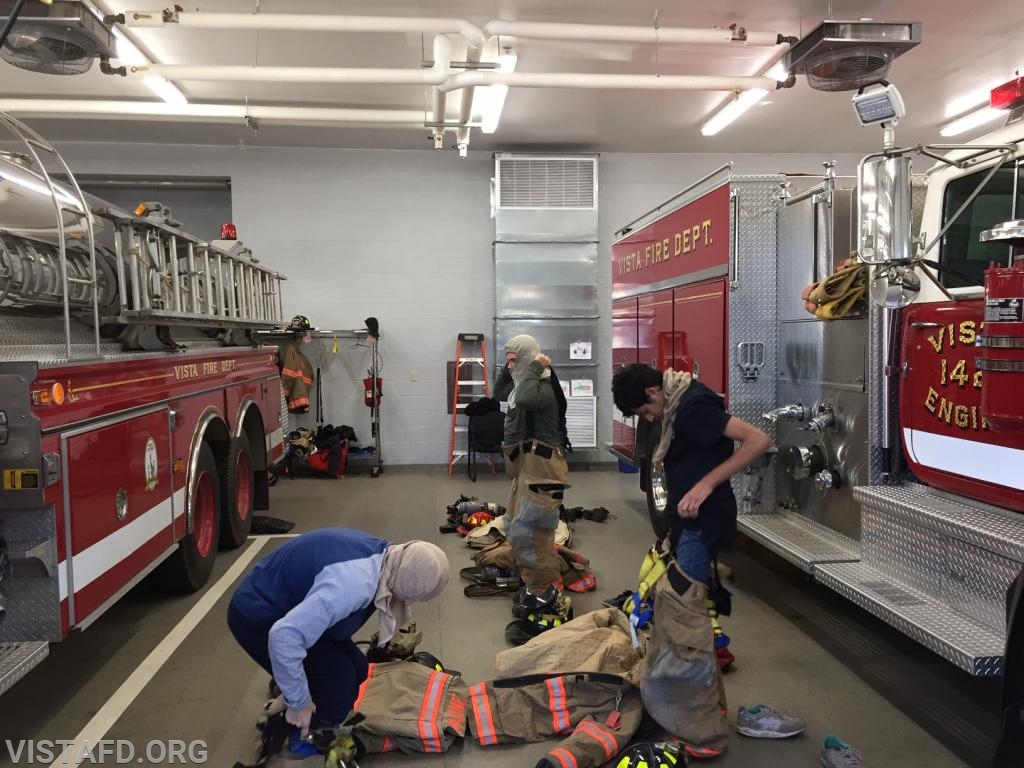 """Vista Firefighters practicing """"2 minute drills"""" during """"MPO & Firefighter Skills Class"""""""