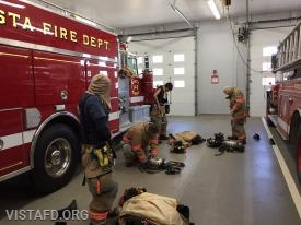 "Vista Firefighters practicing ""2 minute drills"" during ""MPO & Firefighter Skills Class"""