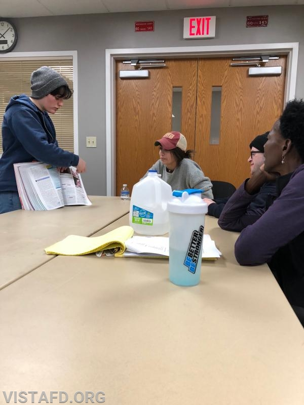 """Foreman Karen Lilly going over how to conduct a medical and trauma assessment during """"EMT Skills Class"""""""