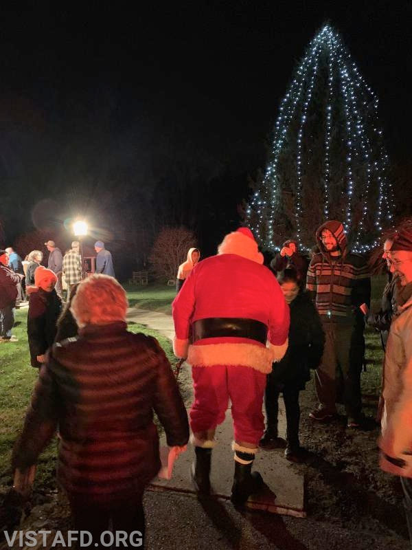 Santa Claus arrives to the Stevens UMC