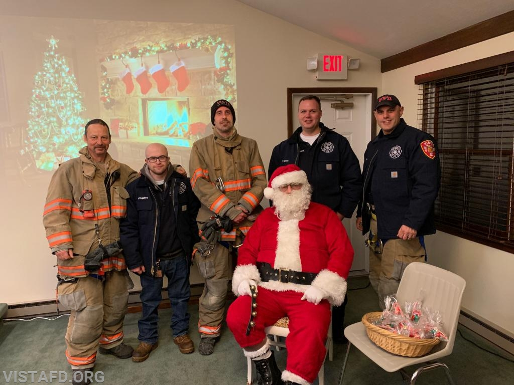 "The Vista Fire Department with Santa Claus at the 2018 Stevens UMC ""Christmas For All Event"""