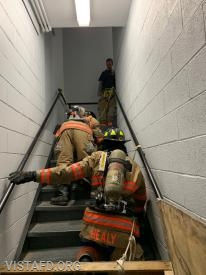 Vista Firefighters going through the SCBA operations course