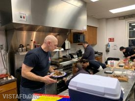 The Saturday Platoons preparing their meals for the 2nd Annual Saturday Platoons cooking competition