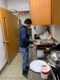 Lt. Phil Katz preparing his meal for the 2nd Annual Saturday Platoons cooking competition