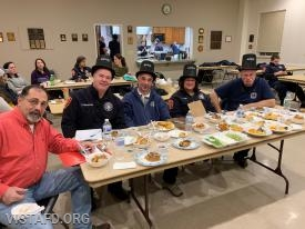 The judges for our competition: Chairman Tom Lobosco, Commissioner Steve Woodstead, Associate Member Brian Smith, EMT Leslie Smith and Ex-Chief Bill Dingee