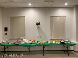 The food spread for our Super Bowl 53 party