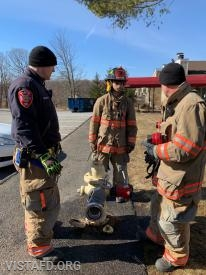 Lt. Phil Katz and Lead Foreman Marc Baiocco going over hydrant operations