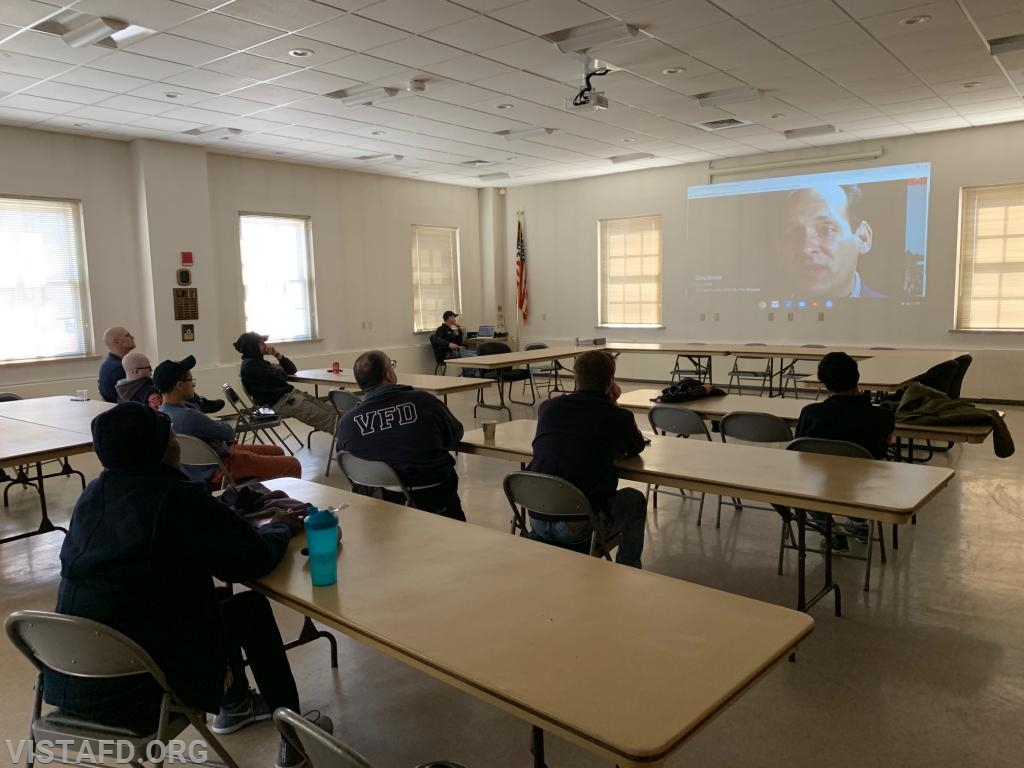 Vista Fire Department members reviewing NFPA 3000 for Active Shooter/Hostile Event Response (ASHER)