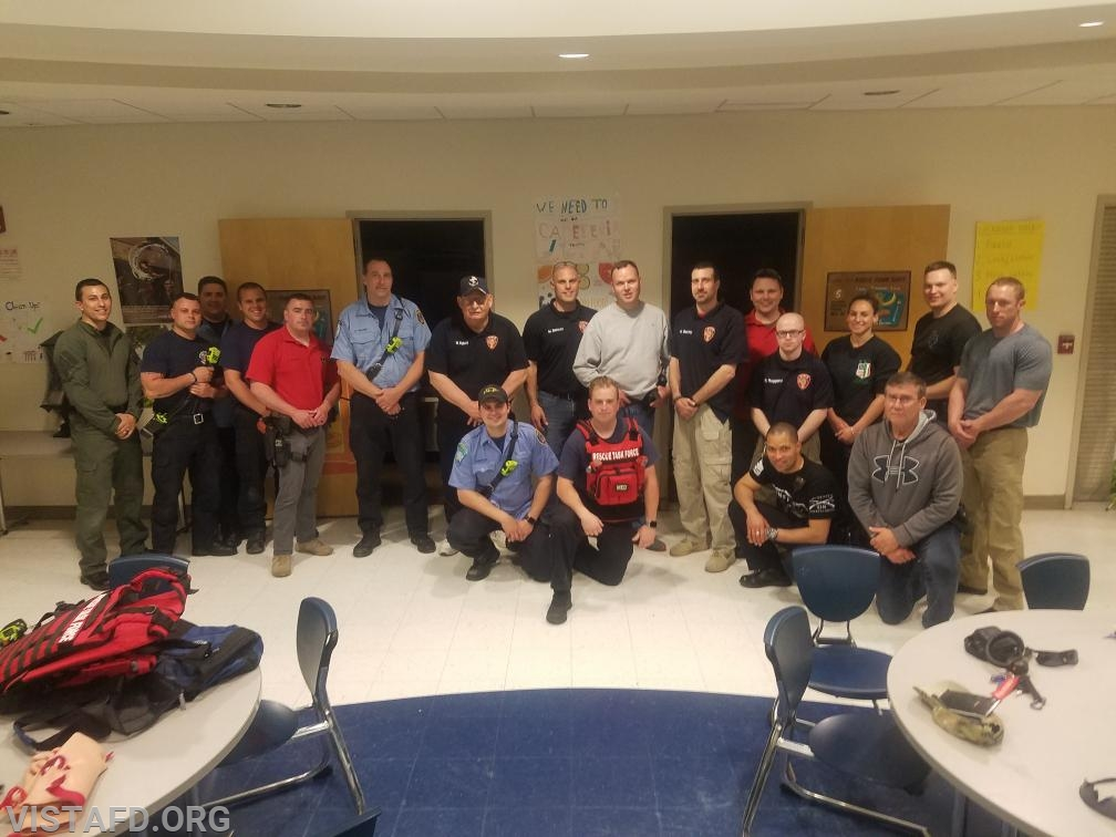 Vista Fire Department personnel with the Ridgefield Police & Fire Departments during ASHER training