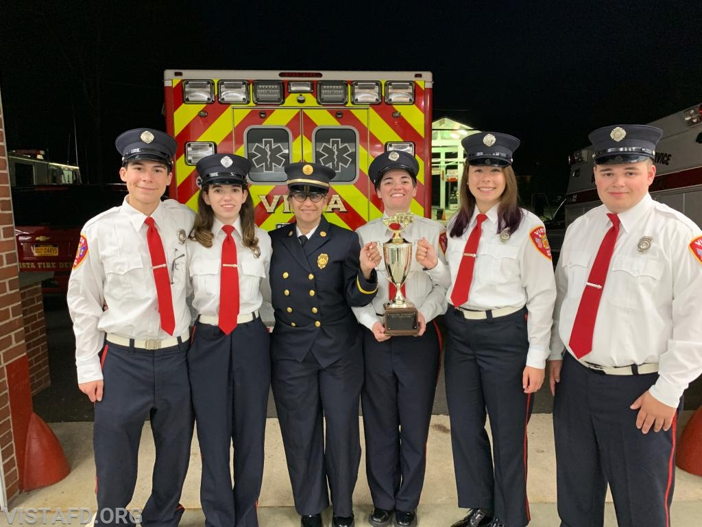 The 84B1 crew with the Best Ambulance Trophy