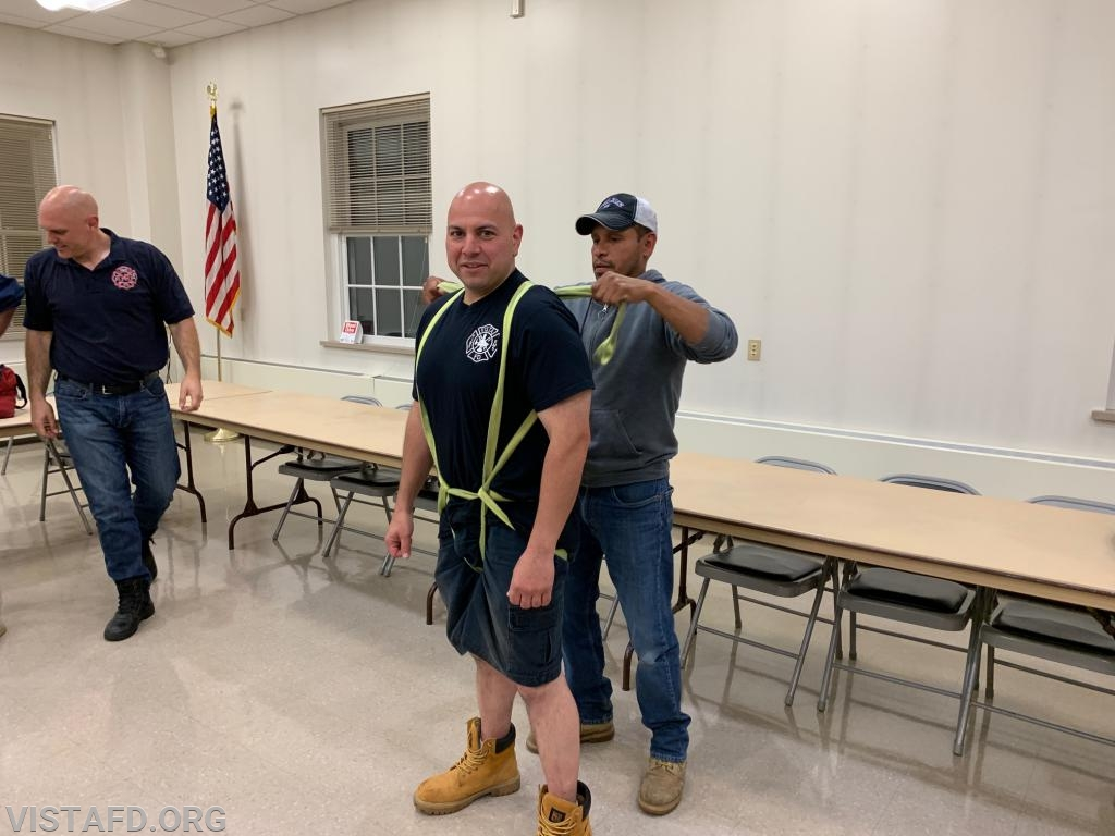 """Vista Firefighters going through """"Bailout Instructor Training"""""""